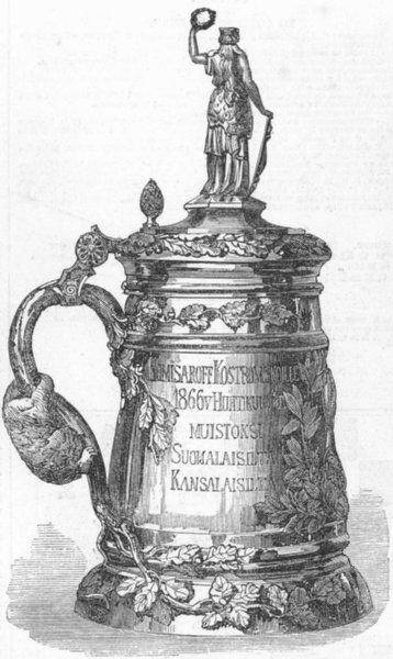 Associate Product FRIESLAND. Gold cup, Kostromsky, antique print, 1868
