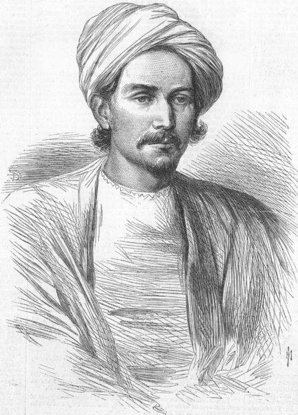 Associate Product PORTRAITS. Meer Akbar Ali, antique print, 1868
