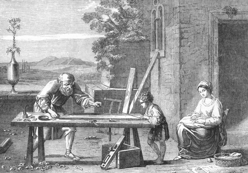 Associate Product FAMILIES. The Raboteur, antique print, 1856