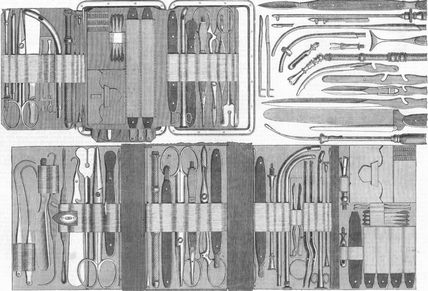 Associate Product MANUFACTURING. Charrieres articulated blades, antique print, 1867