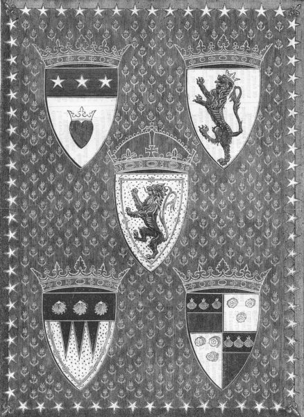 Associate Product DECORATIVE. Binding. Aytoun. Lays Scottish Cavaliers, antique print, 1867