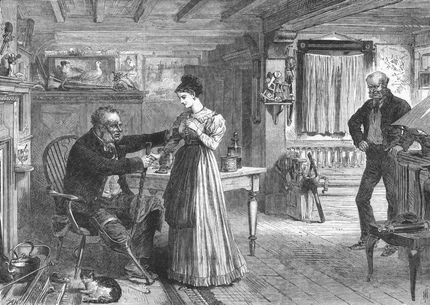 Associate Product CHRISTMAS. Reconciliation, Clapperclaw cottage, antique print, 1868