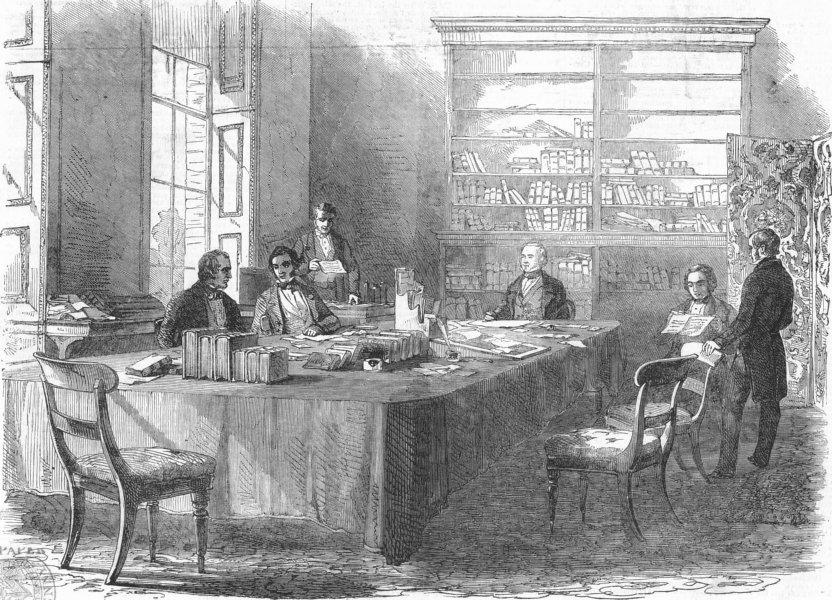 Associate Product LONDON. Board of Health, Gwydyr House, Whitehall, antique print, 1849