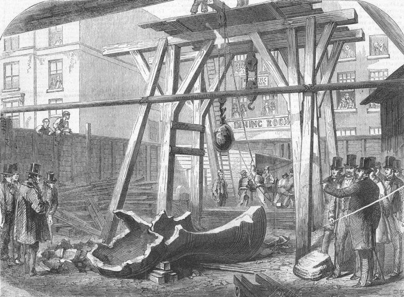 Associate Product WESTMINSTER. Clock bells for -Breaking up Big Ben, antique print, 1838