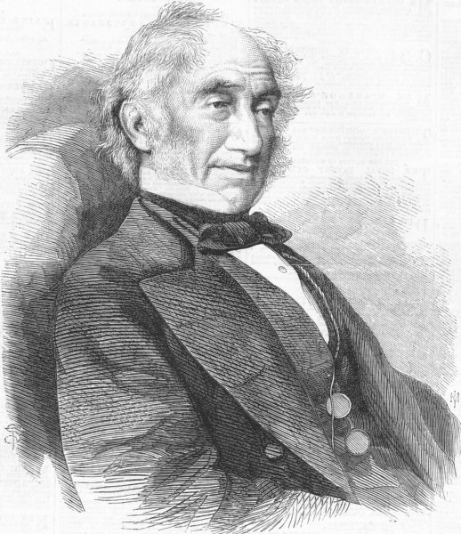 Associate Product LONDON. Hooker, director of Royal Gdns, Kew, antique print, 1865
