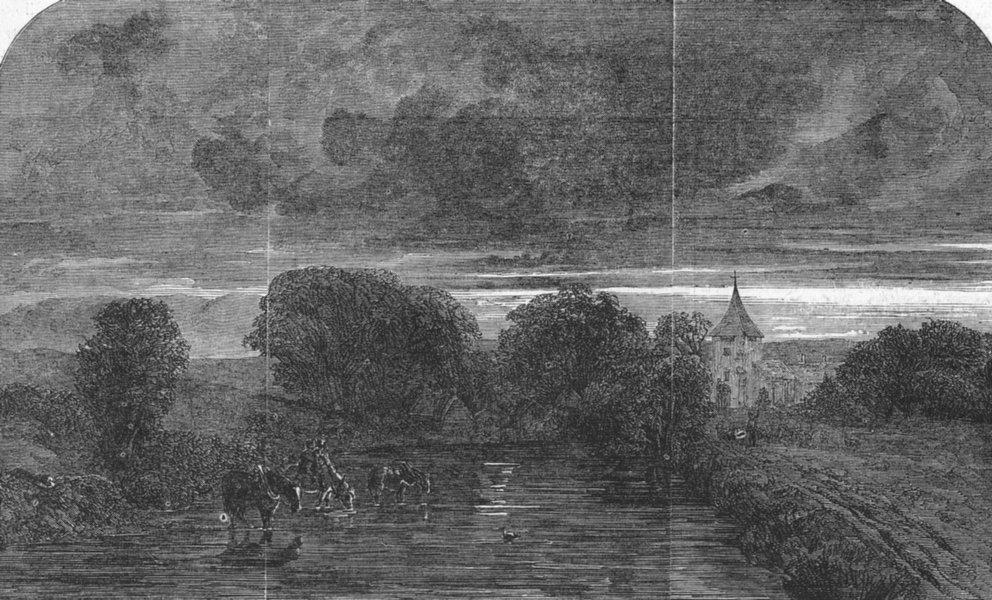 Associate Product LANDSCAPES. Evening-Sunset after storm, antique print, 1847