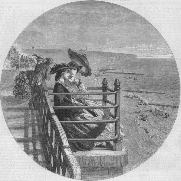 Associate Product SUSSEX. Sketch at Brighton, antique print, 1859