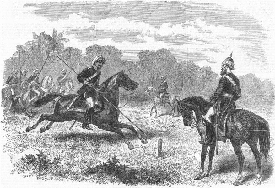 Associate Product INDIA. Men of 8th Bengal Cavalry, Kurtub, antique print, 1869