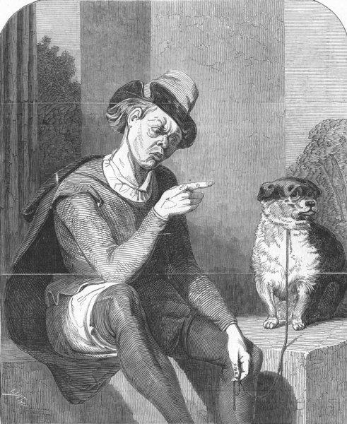 Associate Product SHAKESPEARE. 2 gentlemen of Verona, act IV, 4, antique print, 1847