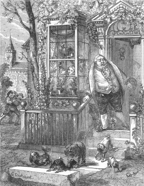 Associate Product CHILDREN. A Runaway knock, antique print, 1855