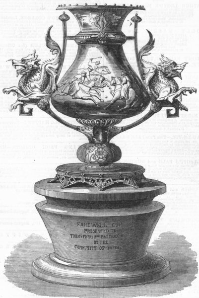 Associate Product JAPAN. Farewell cup, 20th Regt, Yokohama, antique print, 1867