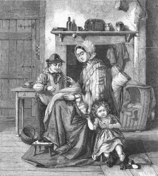 Associate Product BABIES. No Longer Baby, antique print, 1860