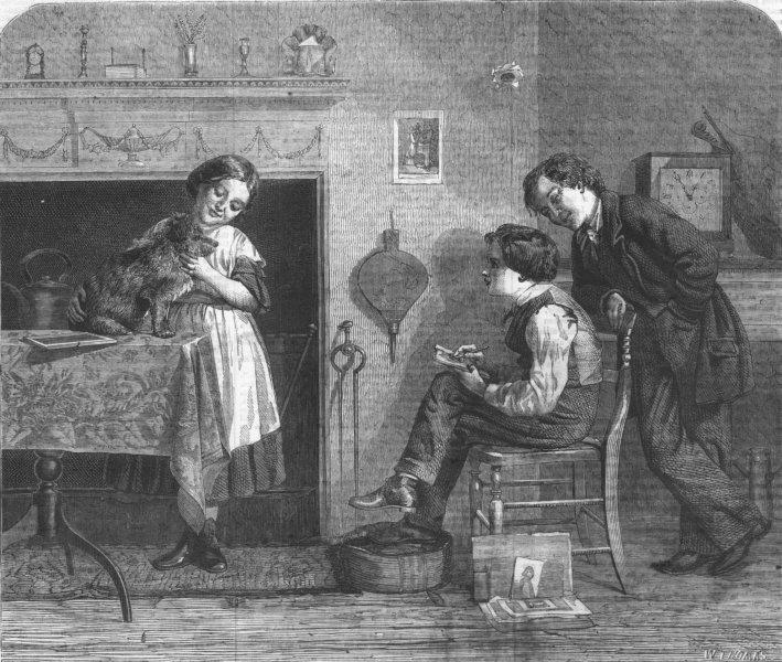 Associate Product CHILDREN. The dawning of Genius, antique print, 1860