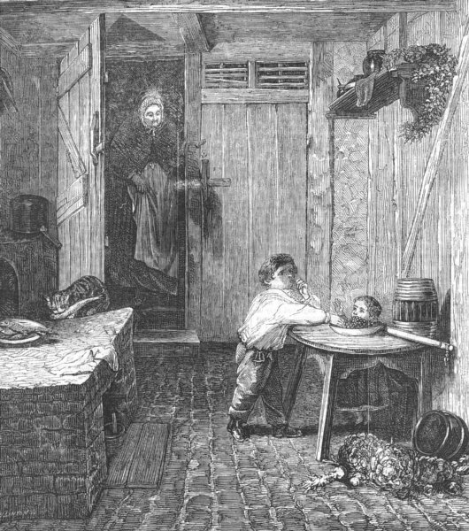 Associate Product CHILDREN. The thieves detected, antique print, 1857
