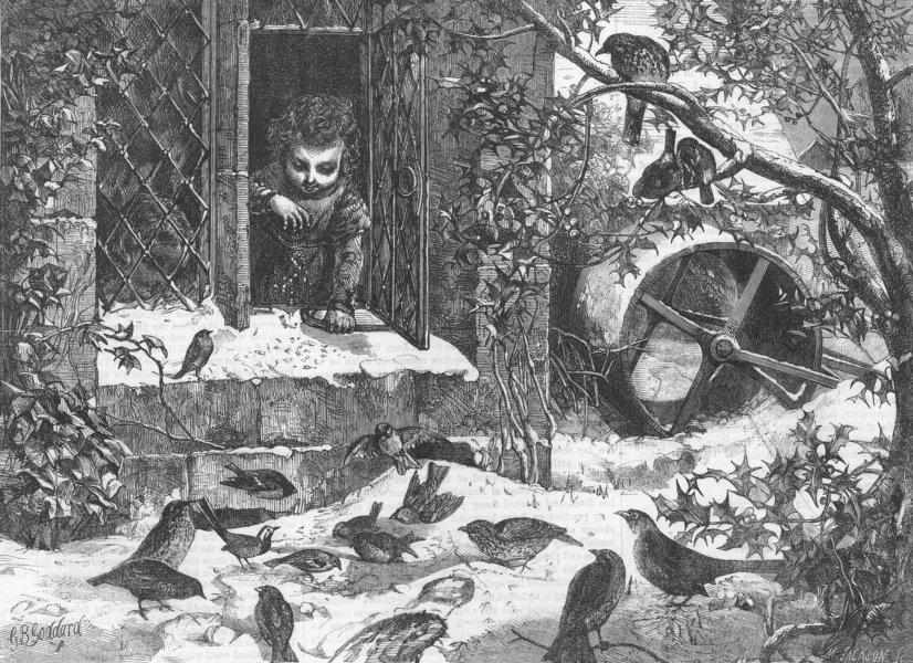 Associate Product BIRDS. Outdoor relief, antique print, 1865