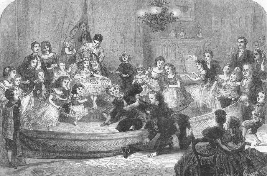Associate Product CHILDREN. Christmas fun. tournament, antique print, 1865
