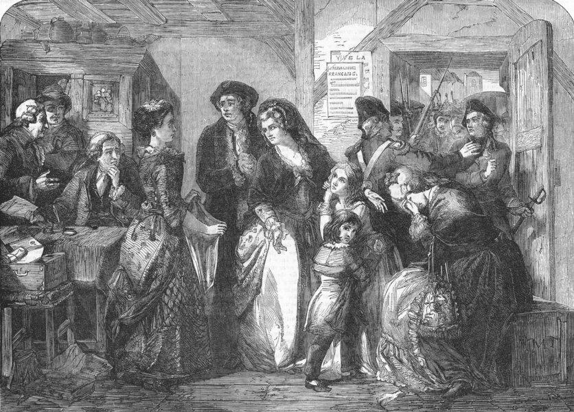 Associate Product VARENNES. Arrest of Louis XVI & his family, 1791, antique print, 1854