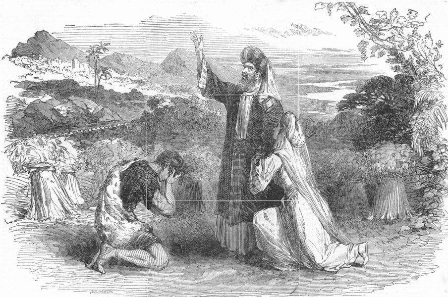 Associate Product LONDON. Azael Prodgial, Drury Lane Theatre, antique print, 1851