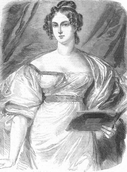 Associate Product SOCIETY. Duke & Duchess of Rutland, antique print, 1857