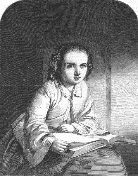 Associate Product CHILDREN. Little Gretchen, antique print, 1856