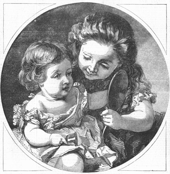 Associate Product CHILDREN. The picture of innocence, antique print, 1856