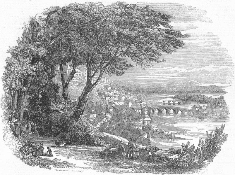 Associate Product FRANCE. Castle & Pau, birthplace of Henry IV, antique print, 1846