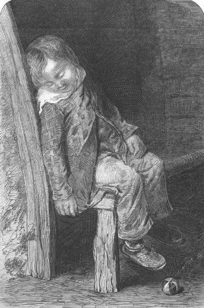 Associate Product CHILDREN. Boy sleeping, antique print, 1846