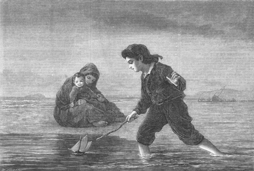 Associate Product CHILDREN. Children of the sea, antique print, 1869