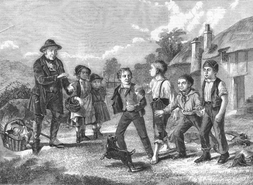 Associate Product CHILDREN. Start-1, 2, 3 & away!, antique print, 1859