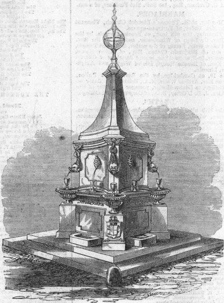 Associate Product HANTS. Drinking-fountain, southsea common, Scarlett, antique print, 1861