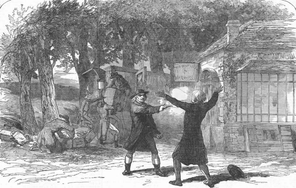 Associate Product FRANCE. Drama courier of Lyon, Princess Theatre, antique print, 1854