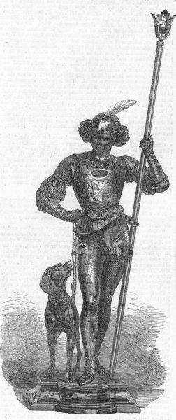 Associate Product DECORATIVE. Bronze figure, Miroy 1, antique print, 1865