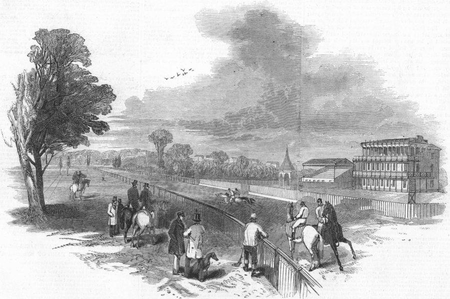 Associate Product LANCS. Manchester new race course, antique print, 1847