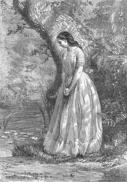 Associate Product PRETTY LADIES. Maidenhood, antique print, 1856