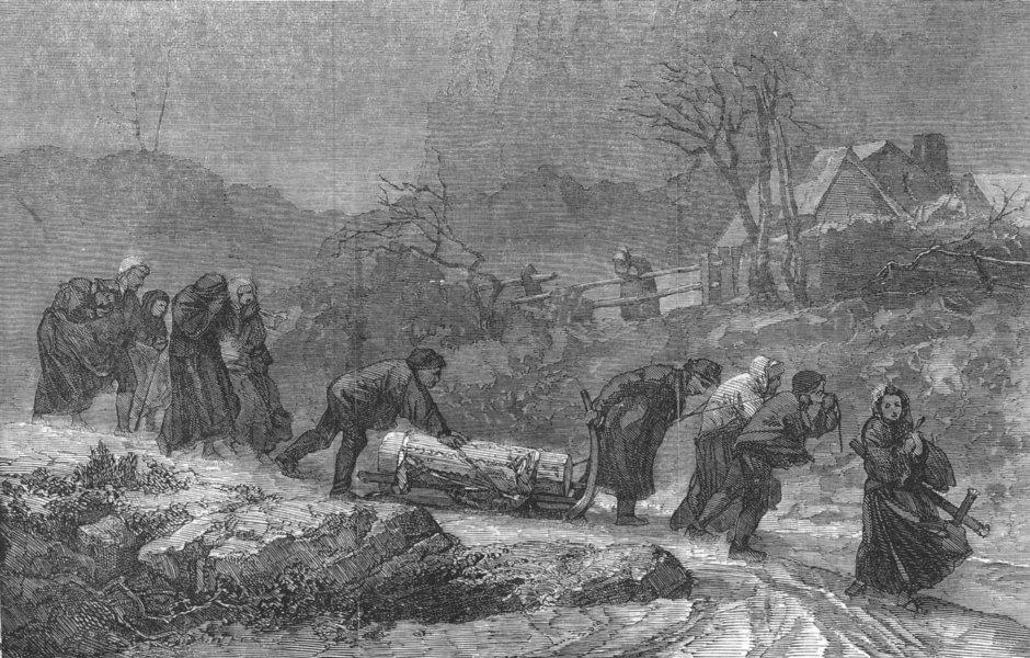 Associate Product FRANCE. Funeral, Vosges Mountains, antique print, 1856