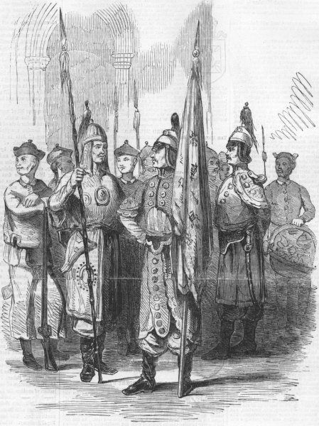 Associate Product MILITARIA. War with China. Chinese troops, antique print, 1857