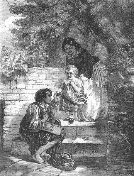 Associate Product CHILDREN. Charity, antique print, 1858