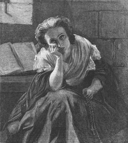 Associate Product PRETTY LADIES. A study, antique print, 1859