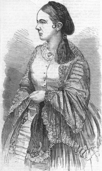 Associate Product PRETTY LADIES. Madame Rieder Schlumberger, antique print, 1859
