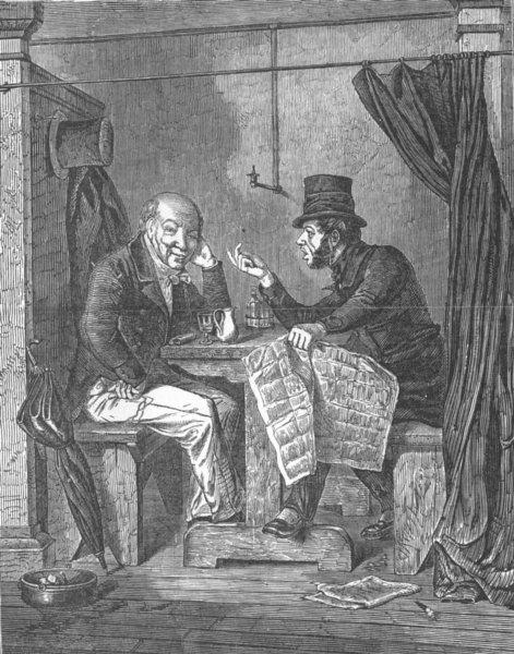 Associate Product NEW YORK. Communist advancing argument, antique print, 1852