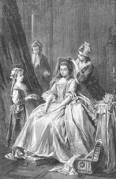 Associate Product SCHILLER. Preparing for wedding(Song of Bell)Cotta , antique print, 1863