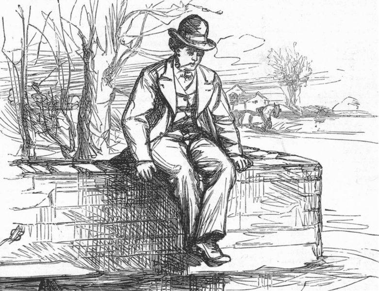 Associate Product CAMBS. Awaiting punt. Cambridge-Terrace, antique print, 1875
