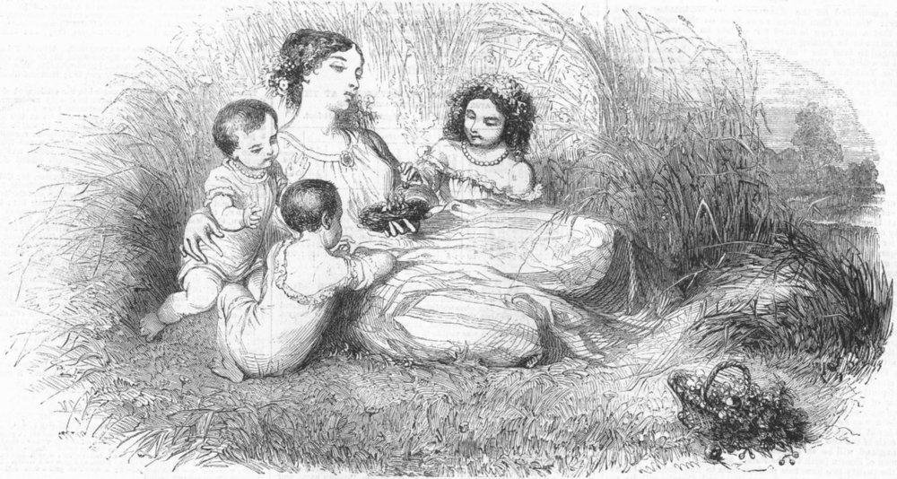 Associate Product CHILDREN. The bird's nest, antique print, 1859