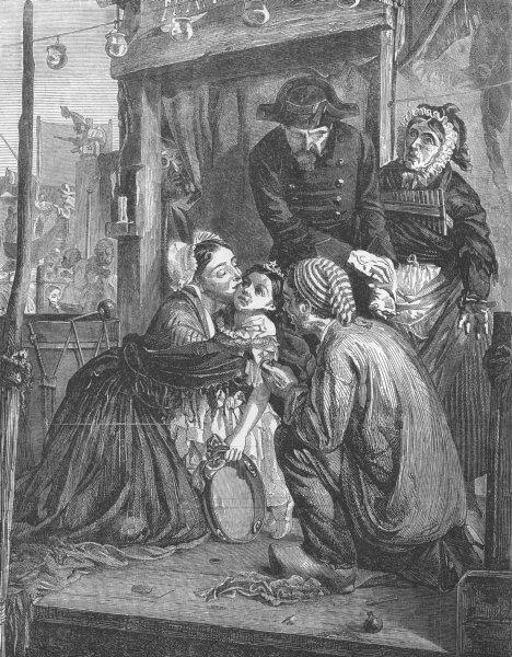 Associate Product CHILDREN. French peasants finding stolen child, antique print, 1859
