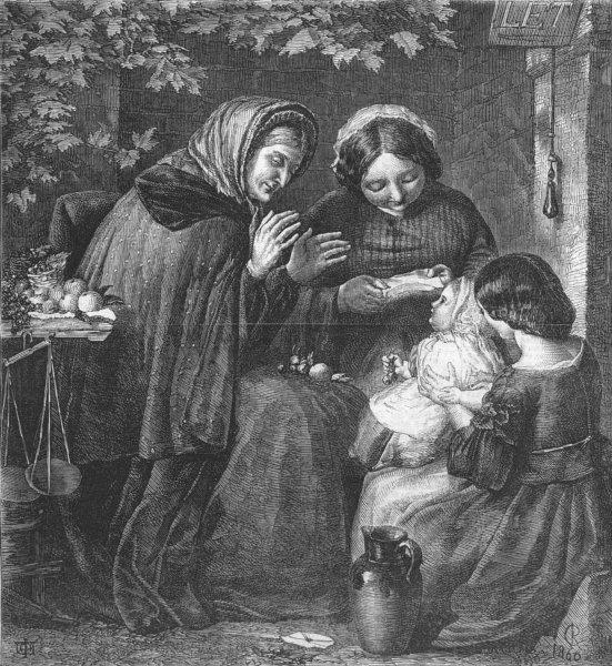 Associate Product BABIES. Oh, bless its little heart!, antique print, 1861
