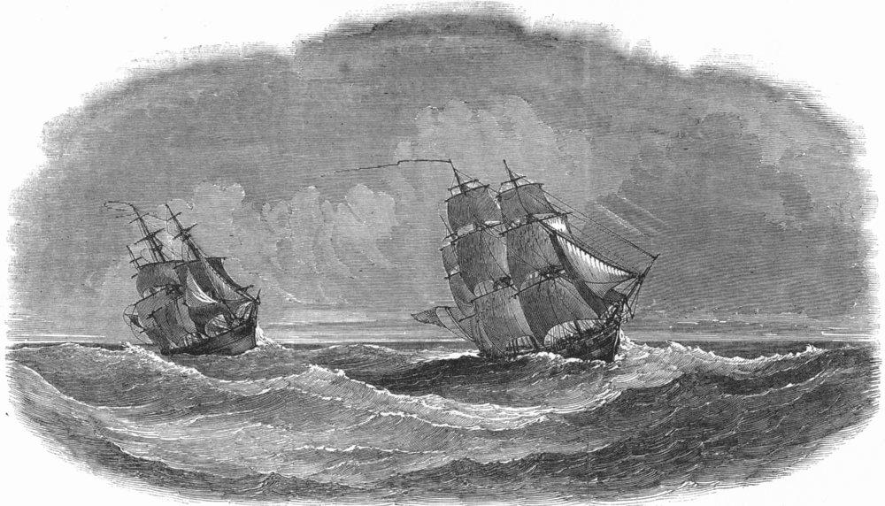 Associate Product SHIPS. Experimental fleet. Phaeton; Arethusa, antique print, 1851