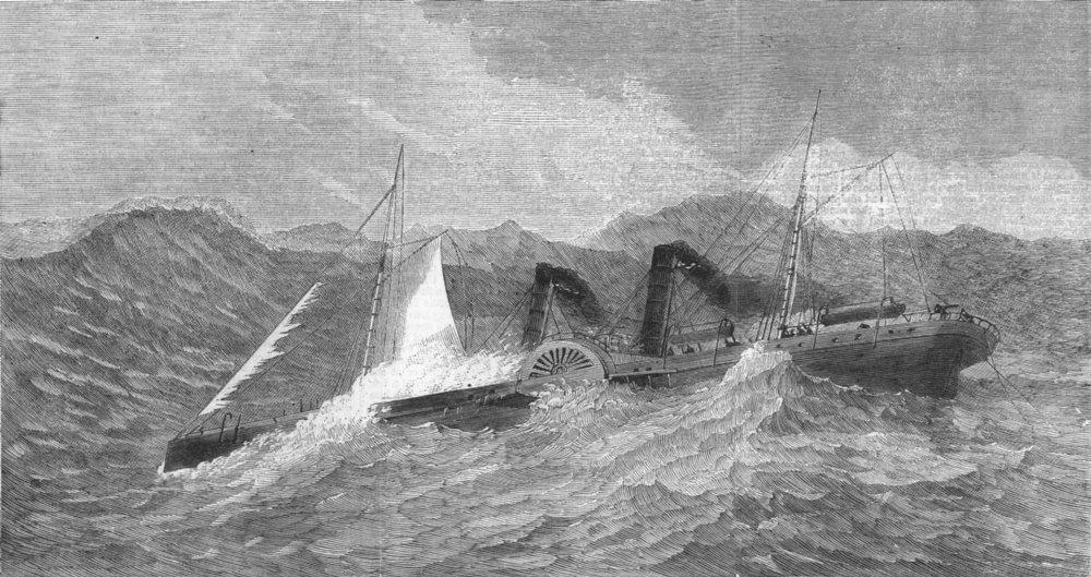 Associate Product LANCS. Wreck of the Lelia, antique print, 1865