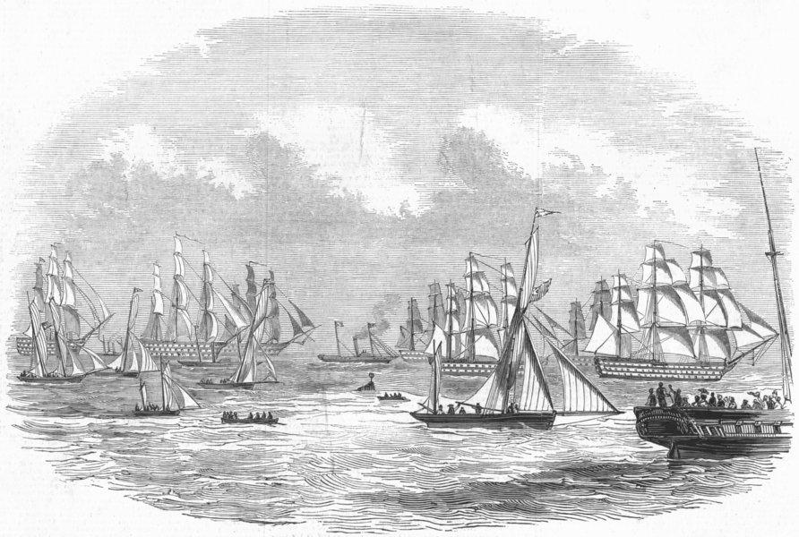 Associate Product ROYALTY. HM experimental fleet, antique print, 1845