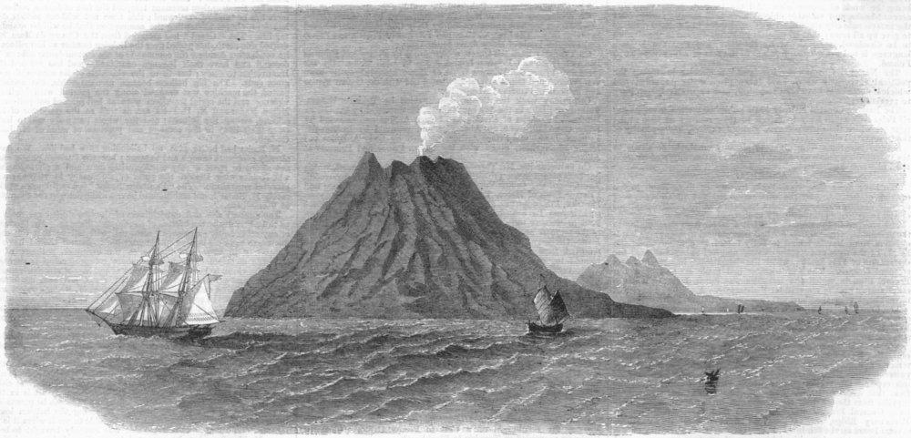 Associate Product JAPAN. Sulphur Island, opposite Satzuma's Dominions, antique print, 1863