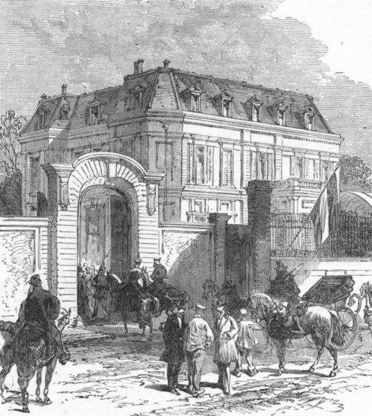 Associate Product VERSAILLES. Count Bismarck's House, Rue De Provence, antique print, 1870